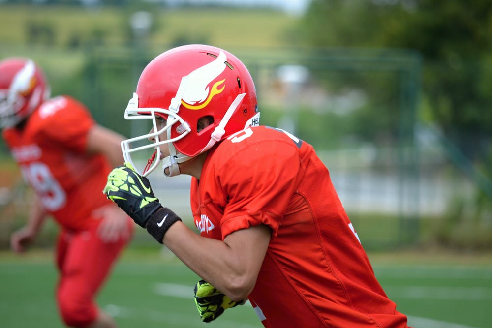 football player during the game